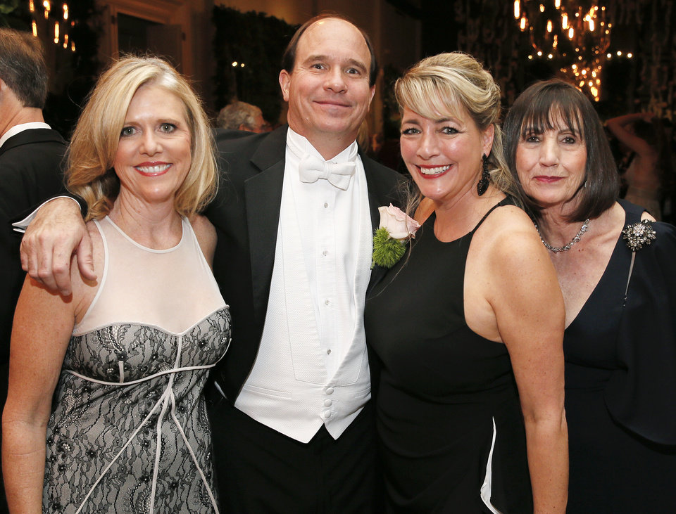 Photo -  Kevyn Colburn, Bill Bondurant, Nicole Bondurant and Gwen Henry. [PHOTO BY NATE BILLINGS, THE OKLAHOMAN]