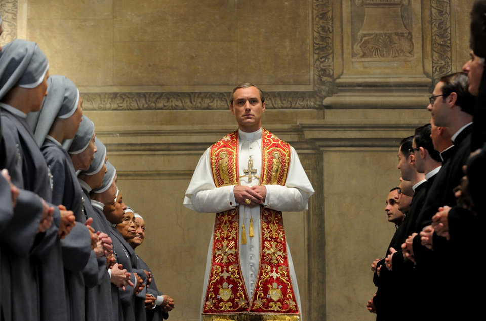 "Photo - This image released by HBO shows Jude Law from the HBO series, ""The Young Pope,"" premiering Sunday at 9 p.m. EST. (HBO via AP)"