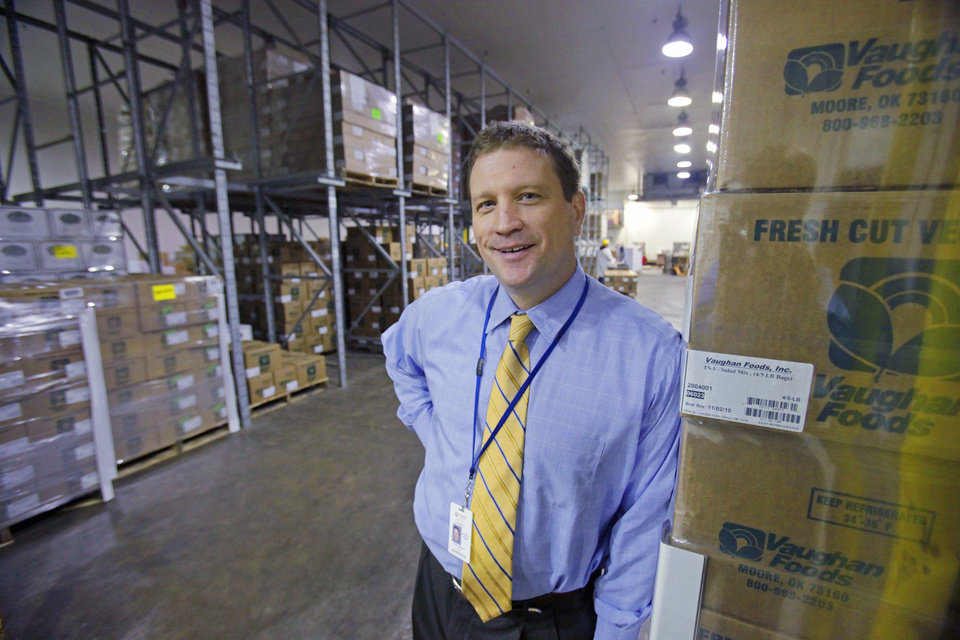Photo -  This 2010 archive photo shows Mark Vaughan at the Vaughan Foods processing plant in Moore. Photo by Steve Sisney, The Oklahoman Archives   STEVE SISNEY -  STEVE SISNEY