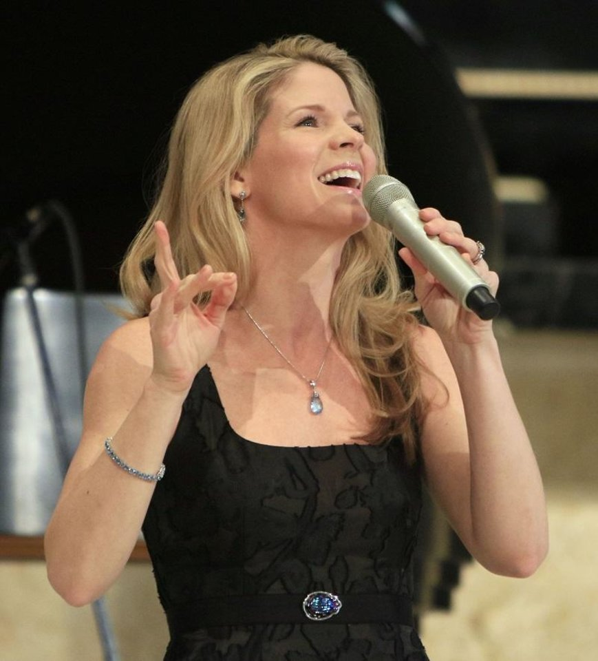 Photo - Tony Award Winner Kelli O'Hara sings during an Esther Women luncheon at St. Luke's United Methodist Church in Oklahoma City, OK, Tuesday, December 1, 2015. [The Oklahoman Archives]