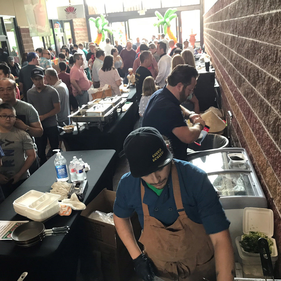 Photo - About 2500 people showed up for the first Chef Fest at Super Cao Nguyen in June. Another Chef Fest is scheduled for June 21. [Dave Cathey/The Oklahoman]