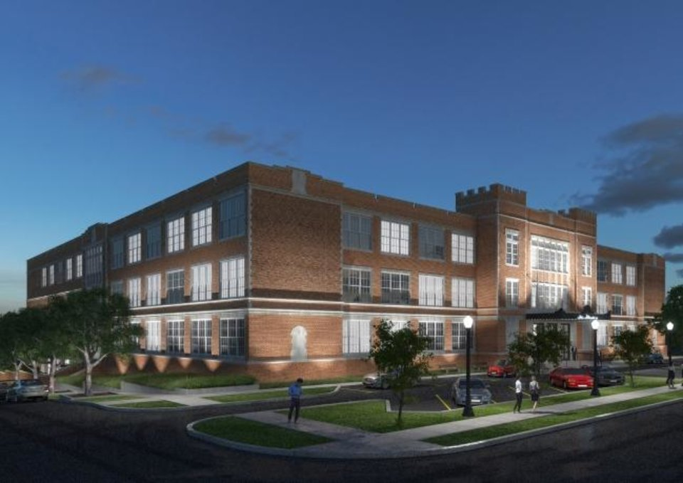 Photo -  Carpethia plans to redevelop the former Oklahoma City Public School headquarters into The Roosevelt, a mix of dining and retail anchored by a hotel. [PROVIDED]