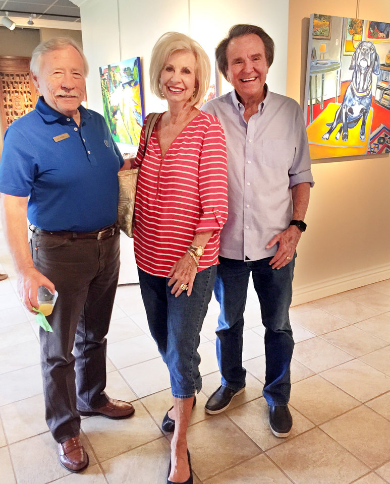 Photo - Ken Howell, Joy and Jerry Richardson. LINDA HOWELL PHOTO