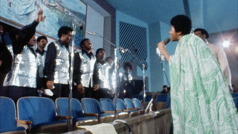 Photo - Aretha Franklin is shown in the concert film