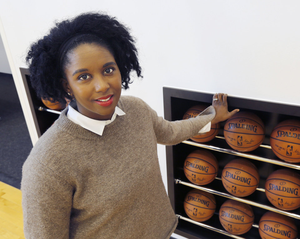 Photo -  Ayana Lawson is the Thunder's director of player services. [Photo by Paul Hellstern, The Oklahoman]