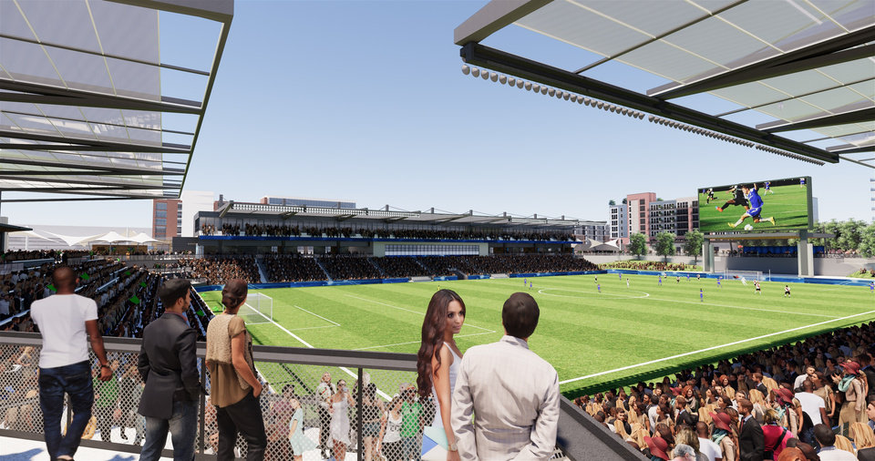 Photo -  A 10,000-seat multi-use stadium that would be home to the Energy FC is among projects being pitched for a proposed MAPS 4 ballot later this year. [PROVIDED]