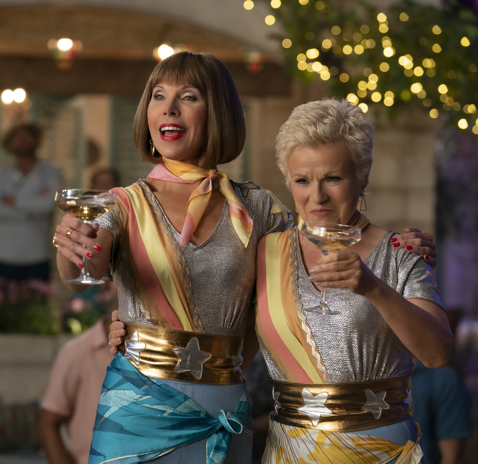 Photo -  This image released by Universal Pictures shows Christine Baranski, left and Julie Walters in a scene from