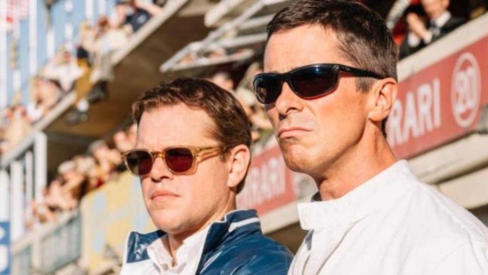 Photo -  Matt Damon, left, and Christian Bale star in