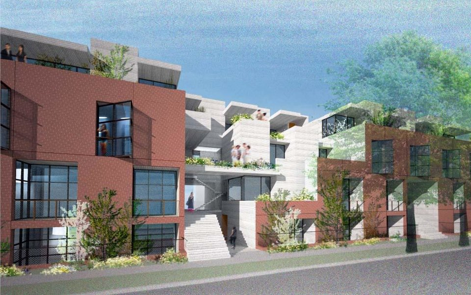 Photo -  Apartments to be built at NW 12 and Frances by Midtown Renaissance.