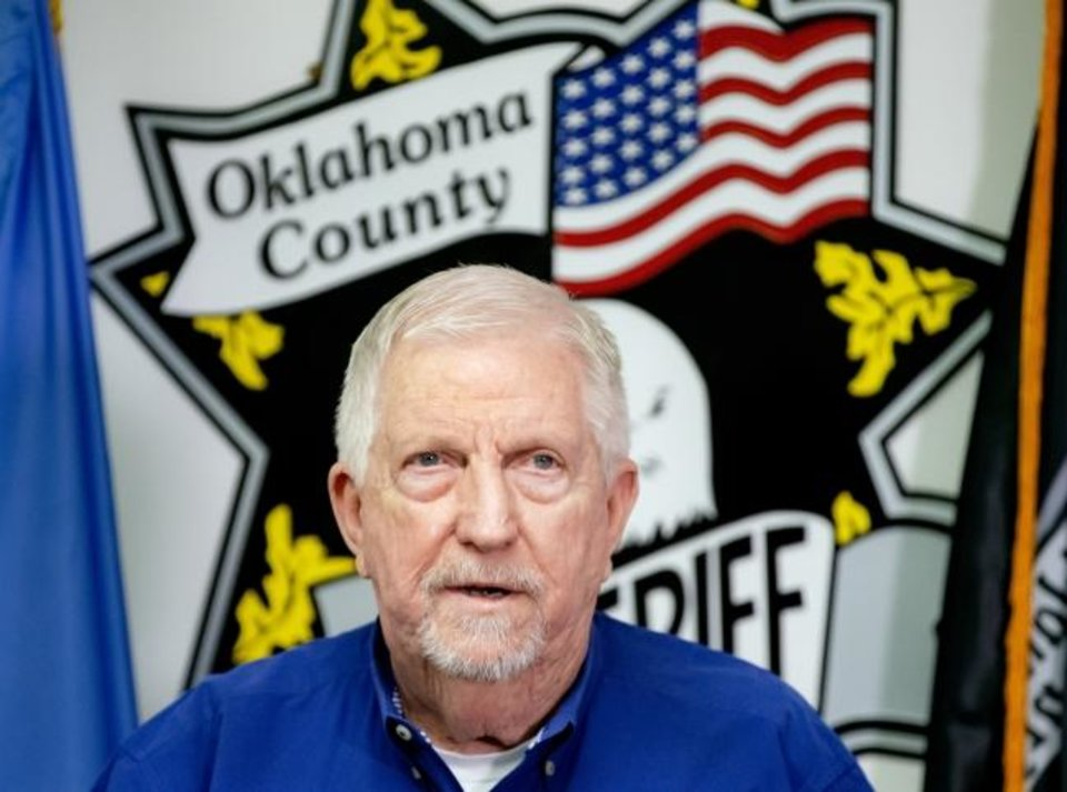 Photo -  Oklahoma County Sheriff P.D. Taylor speaks during a press conference at the Oklahoma County Sheriff's office in Oklahoma City, Okla. on Tuesday, Jan. 21, 2020.   [Chris Landsberger/The Oklahoman]