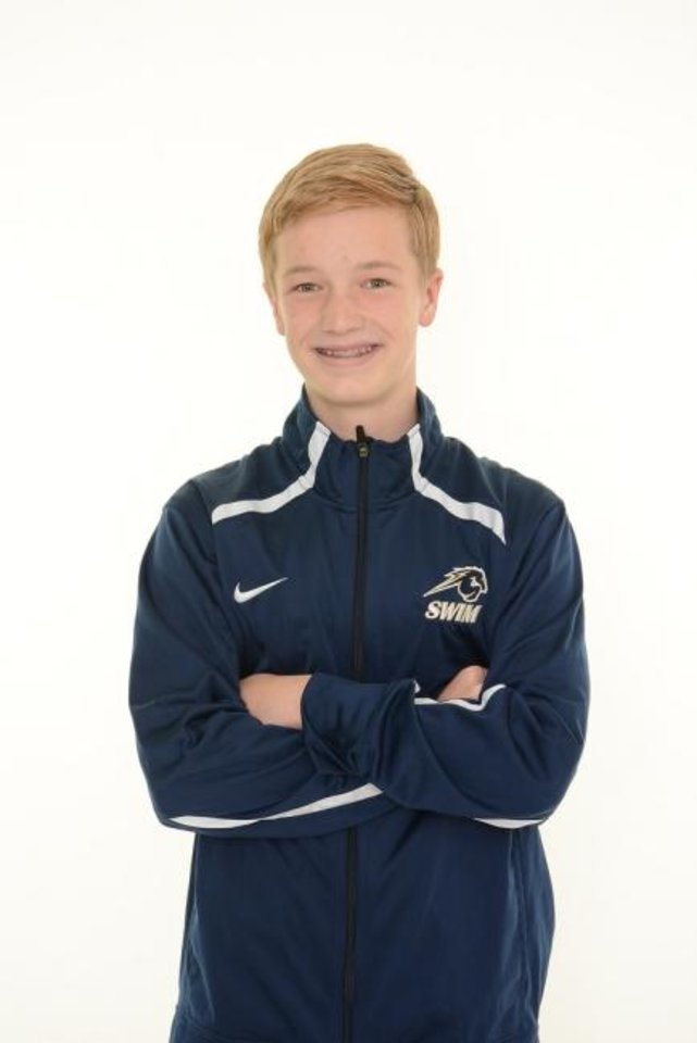 Photo -  Heritage Hall's Owen Flynn is a member of The Oklahoman's All-City swim team. [Photo provided]