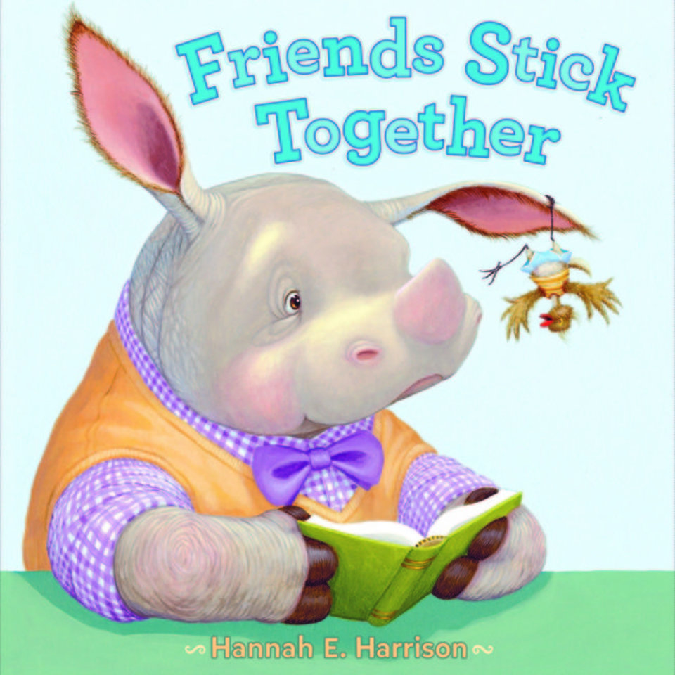 "Photo -  ""Friends Stick Together,"" by Hannah E. Harrison, winner of both children's writing and illustration"