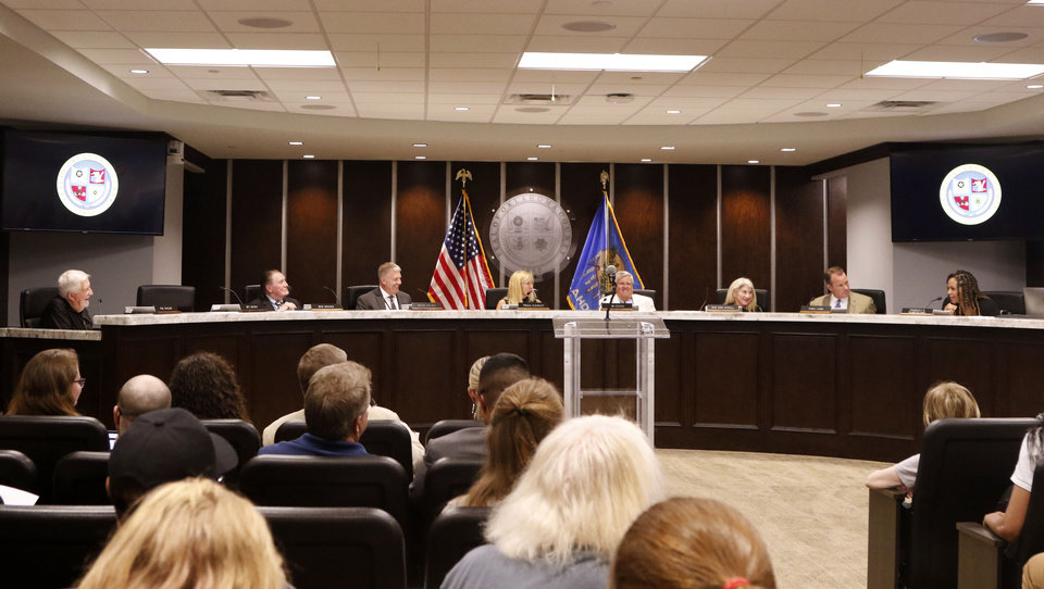 Photo -  The Oklahoma County Jail Trust meeting in Oklahoma City, Oklahoma on July 22, 2019. [Paxson Haws/The Oklahoman file photo]