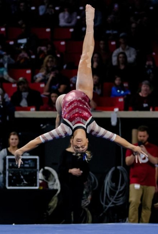 Photo -  Maggie Nichols has already won two NCAA all-around titles and six total individual national titles. The Oklahoma senior may well add to her resume over the next two months. [CHRIS LANDSBERGER/THE OKLAHOMAN]