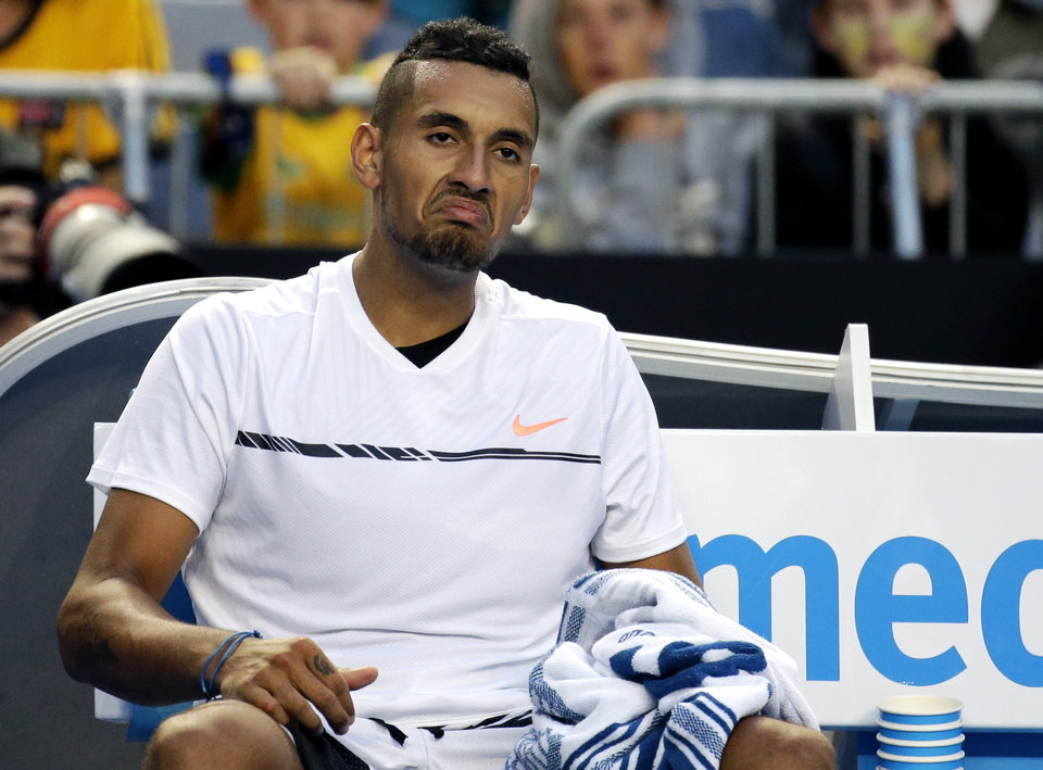 Playing at home, Nick Kyrgios dilapidated a two-set advantage on the second round before bowing out