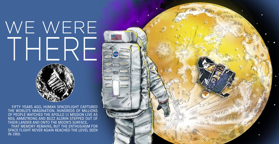 Photo -  Several Oklahomans contributed to the early days of space exploration. [Todde Pendleton/The Oklahoman illustration]