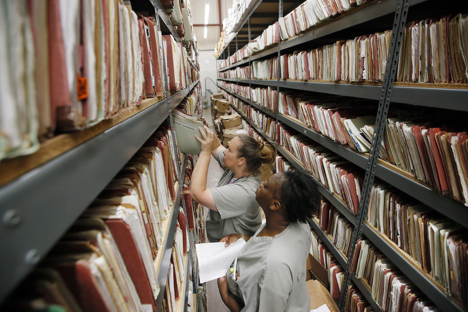 Oklahoma Department of Corrections record keeping system