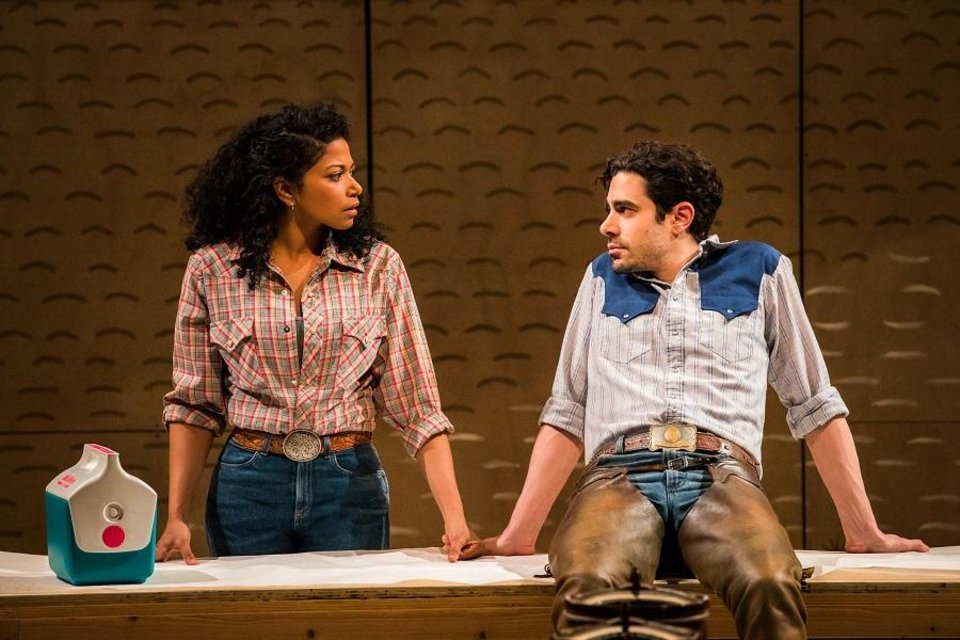 Photo - Rebecca Naomi Jones stars as Laurey and Damon Daunno as Curly in the Broadway revival of