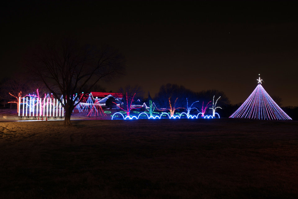 this year is the 11th annual light show provided by the downs family photo by whitney bryen for the oklahoman