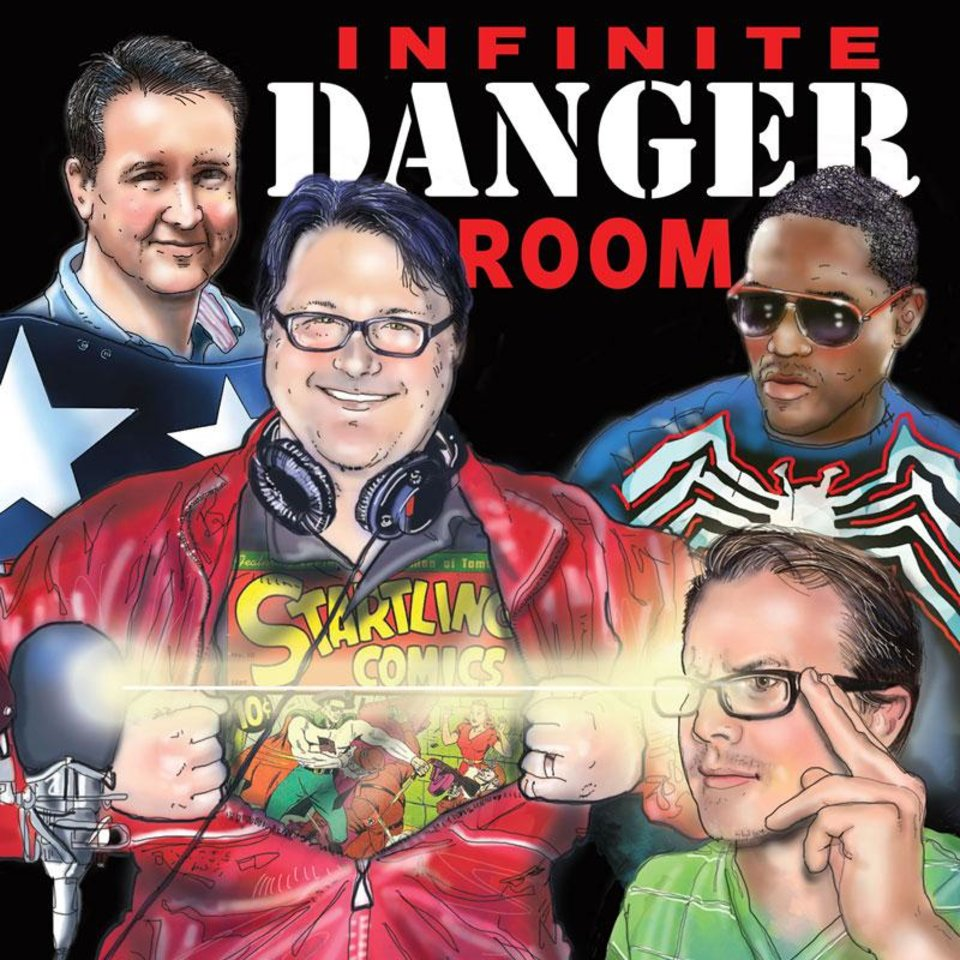 Photo - The Infinite Danger Room podcast panel returns for its 100th episode. [THE OKLAHOMAN GRAPHICS]