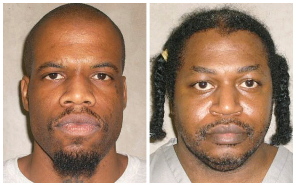 Photo - This photo combo of images provided by the Oklahoma Department of Corrections shows Clayton Lockett, left, and Charles Warner. Lockett and Warner, two death-row inmates who want to know the source of drugs that will be used to execute them, have placed OklahomaÂ's two highest courts at odds and prompted aggravated members of the Legislature to call for the impeachment of Oklahoma Supreme Court justices. (AP Photo/Oklahoma Department of Corrections)