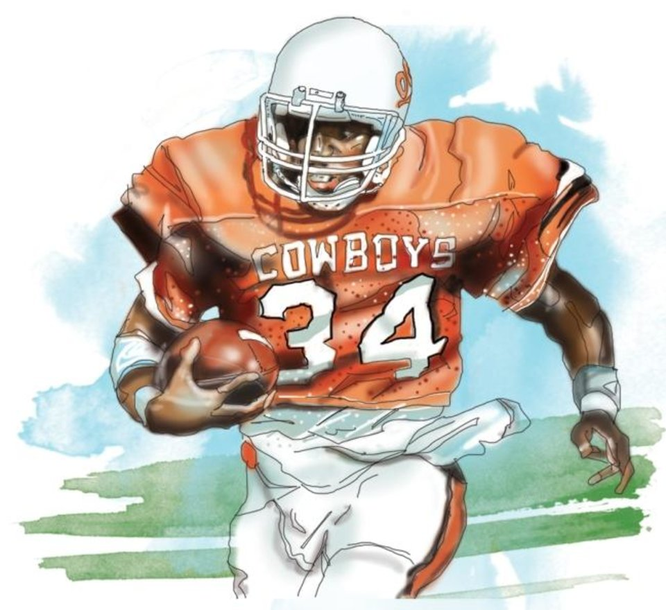 Photo -  Thurman Thomas [illustration by Todd Pendleton/The Oklahoman]