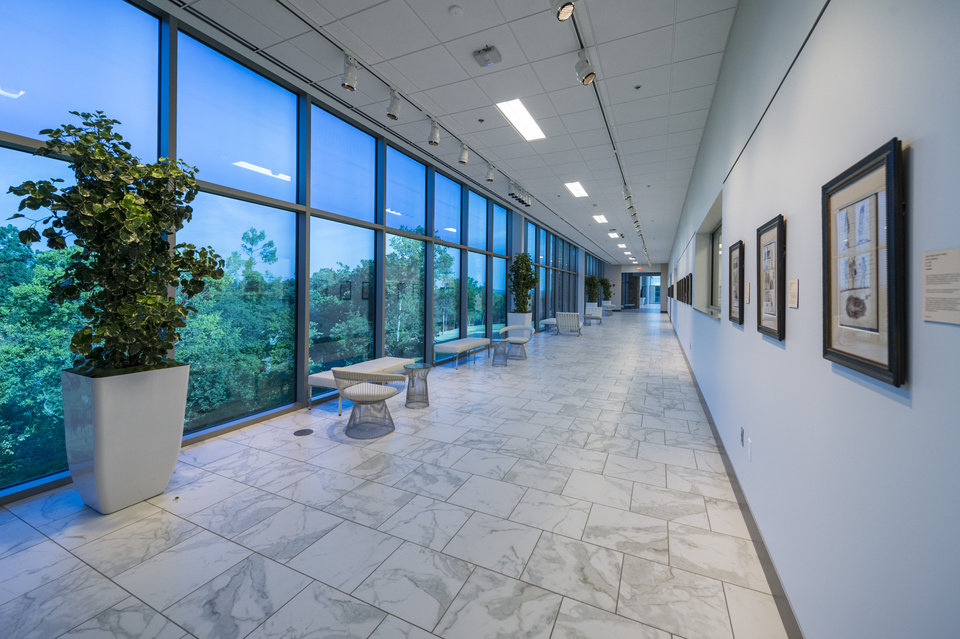 Photo -  An interior view is shown of the Helmerich Center for American Research at Gilcrease Museum. Photo provided