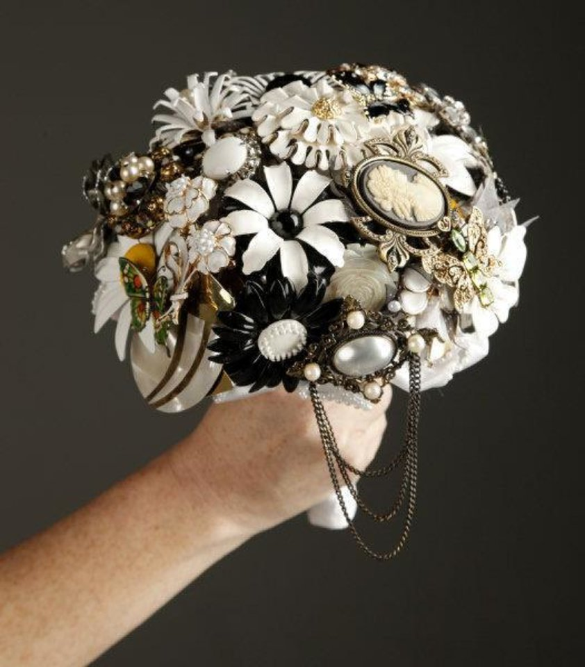 One Of Donna Matts Vintage Jewelry Bouquets Photo By Doug Hoke The Oklahoman