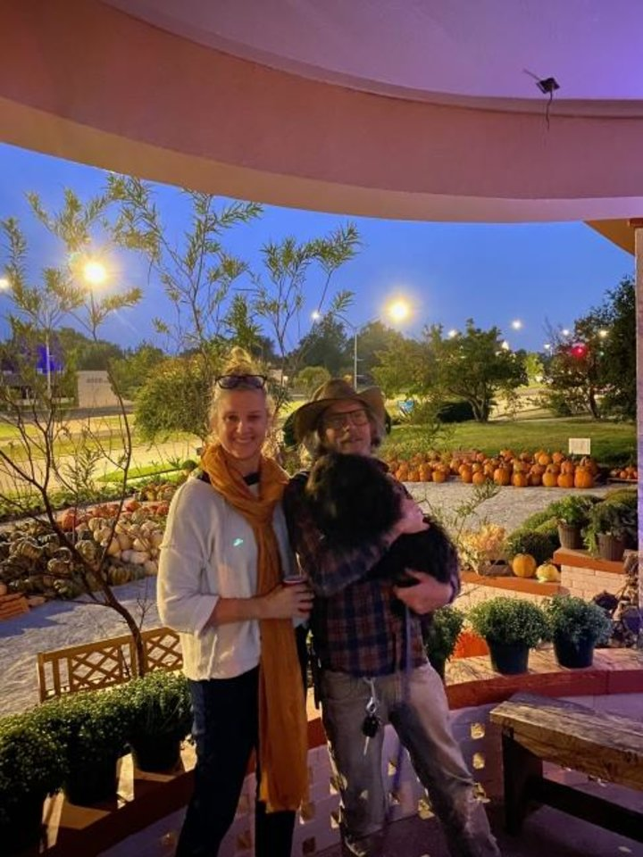 Photo -  Kris and Shaun Murray, and Brick, at Brick's Garden Exchange during the Fall Exchange. [PHOTO PROVIDED]