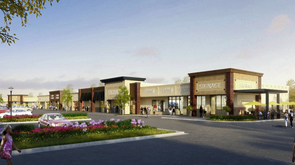 Photo -  Speculative design of a possible retail in the area of Covell Road and Interstate 35 in Edmond. [RENDERING PROVIDED]