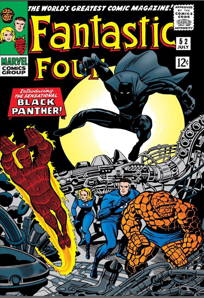 Photo -  The Black Panther in his first appearance in