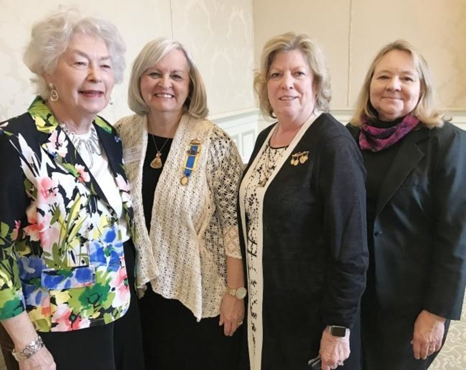 Photo -  Jeannine Long, Mary Meritt, Cherie Lawson and Norma Hughes. [KIRSTEN FERATE PHOTOS]