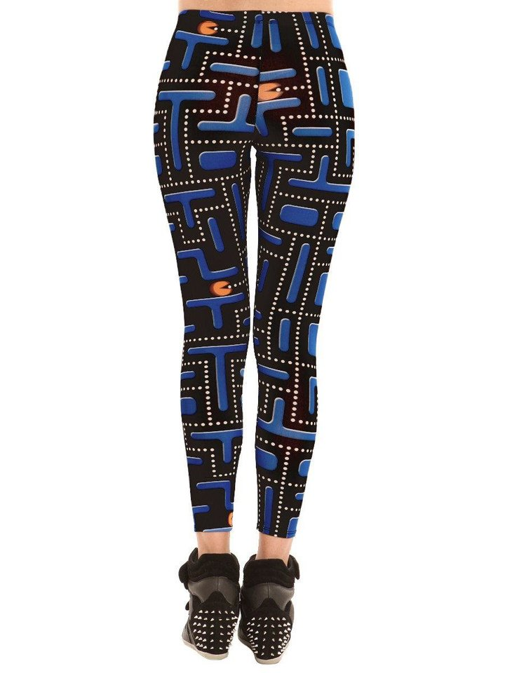 Photo - If you want to make a fun statement with your leggings, several styles are available in whimsical patterns such as these Pac Man leggings, sold at http://gypsywarrior.com. Photo provided.