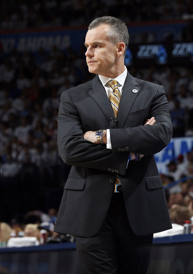 Photo - Oklahoma City coach Billy Donovan during Game 2 of the first round series between the Oklahoma City Thunder and the Dallas Mavericks in the NBA playoffs at Chesapeake Energy Arena in Oklahoma City, Monday, April 18, 2016. Dallas won 85-84. Photo by Nate Billings, The Oklahoman