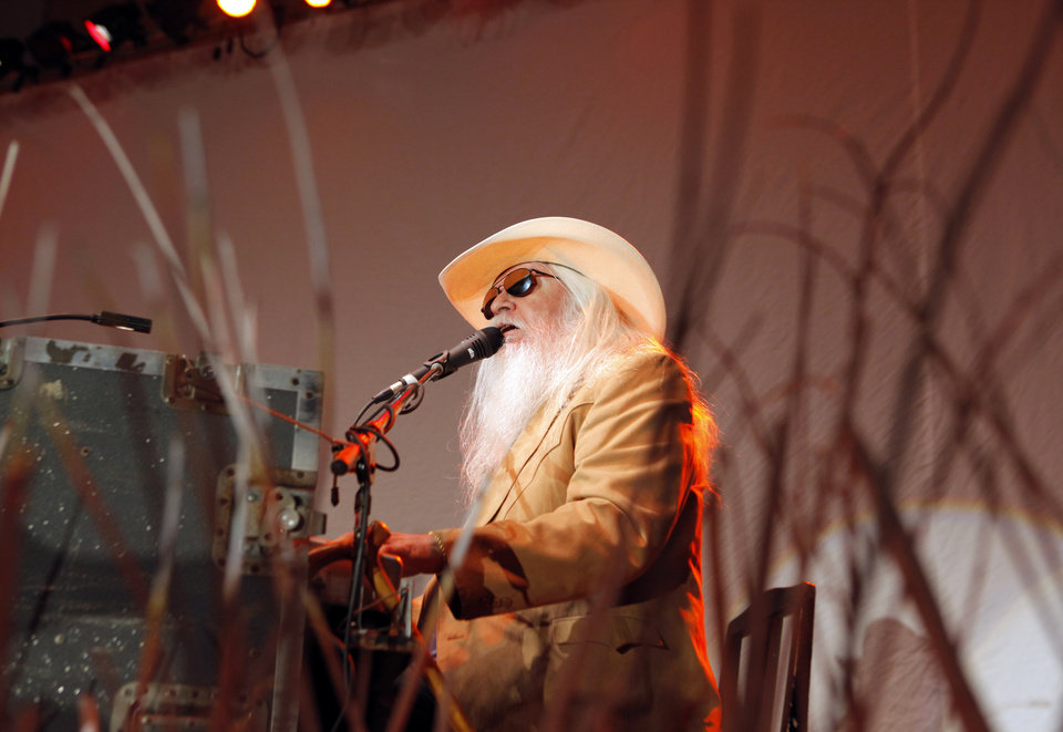 Photo - GOVERNOR MARY FALLIN / INAUGURATION ACTIVITIES / FIRST WOMAN GOVERNOR / OKLAHOMA / STATE: Leon Russell performs during the inaugural ball for Gov. Mary Fallin at the National Cowboy & Western Heritage Museum in Oklahoma City, Monday, January 10, 2011. Photo by Nate Billings, The Oklahoman ORG XMIT: KOD
