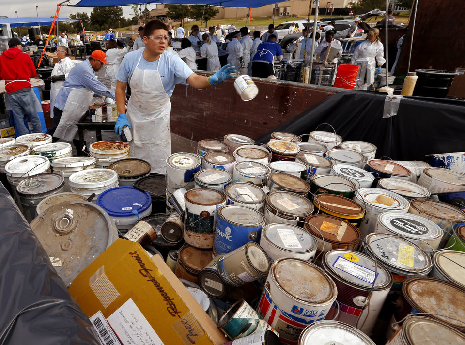 city collects hazardous waste for safe disposal news ok On paint collection center