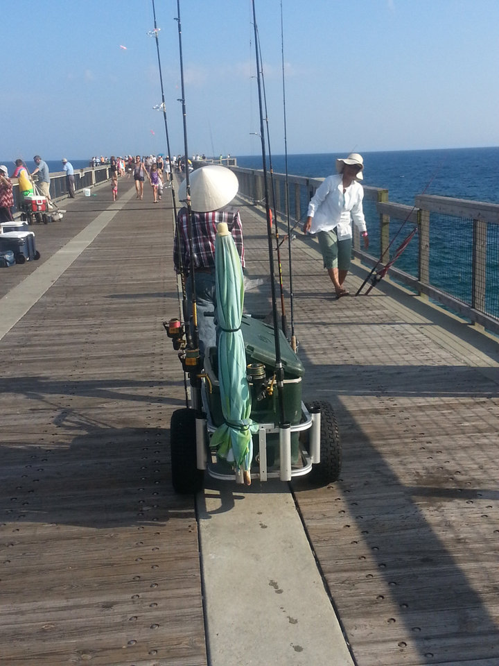 Navarre beach fishing pier a hidden gem news ok for Best pier fishing rod