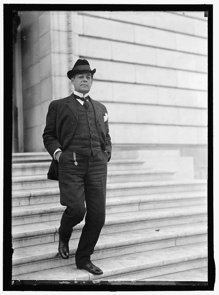 Photo -  U.S. Sen. Robert L. Owen in 1914. [PROVIDED/ OKLAHOMA CITY BRANCH OF THE FEDERAL RESERVE BANK OF KANSAS CITY]
