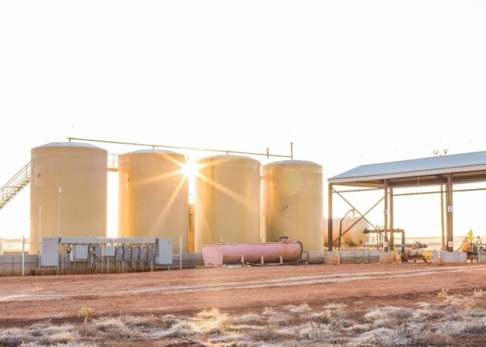 Photo -  An unloading station for a saltwater disposal well owned by Lagoon Water Solutions in the STACK play of northwestern Oklahoma is pictured. [PROVIDED]