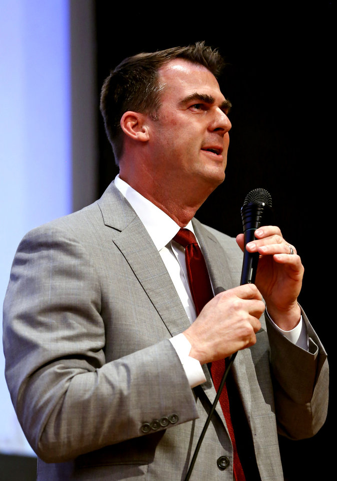 Photo -  Republican gubernatorial candidate Kevin Stitt.   Photo: Steve Sisney, The Oklahoman