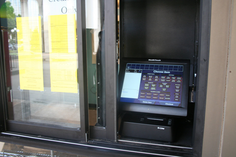 Photo -  The self-serve window at The Whole Enchilada Cafe.