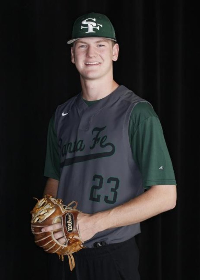 Photo -  Edmond Santa Fe's Blake Robertson is The Oklahoman's All-State Player of the Year. [Doug Hoke/The Oklahoman]
