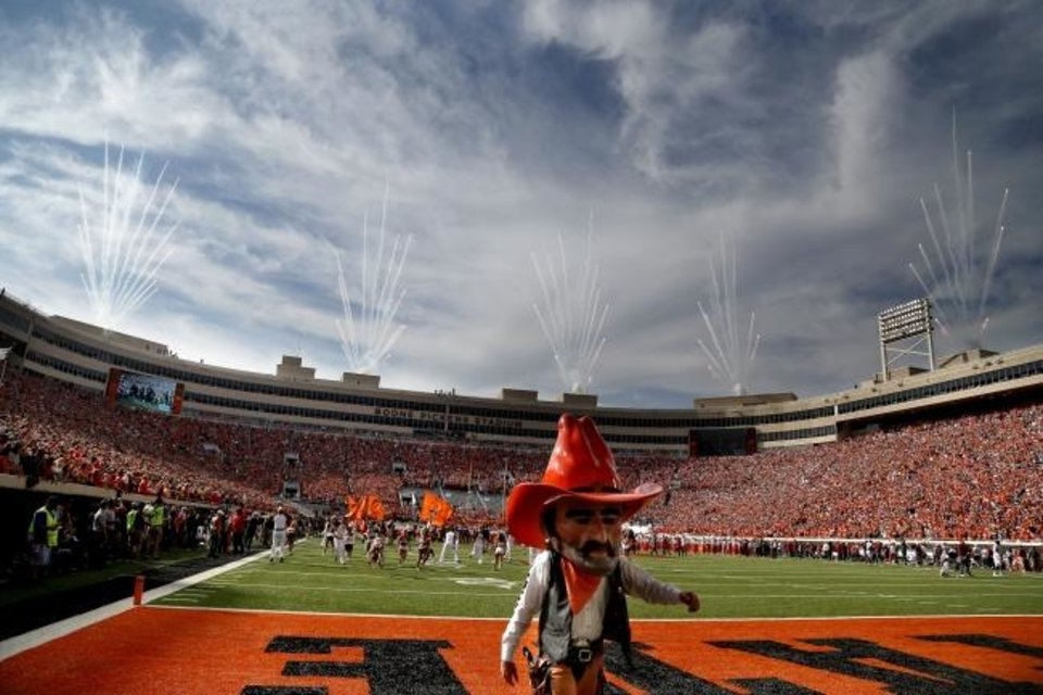 Photo -  Much of the game-day experience will be different at OSU this season because of the coronavirus pandemic, including the absence of Pistol Pete. But with the stadium at 25% capacity, OSU was able to reduce season tickets by 75% without causing major discontent among fans. [SARAH PHIPPS/THE OKLAHOMAN]