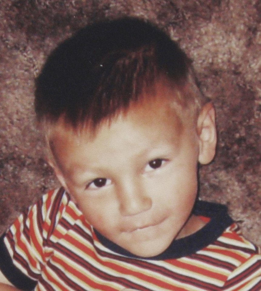 Photo - ROCKY MOORE / TRINITY ANDERSON / BEATEN / BEATING DEATH: Ryan Weeks, 3-year-old who died Sunday of blunt trama, suspected victim of child abuse. Provided photo. ORG XMIT: KOD