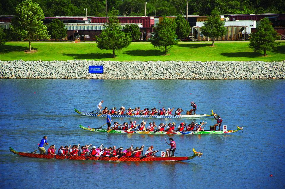 Photo - DBC has partnered with RIVERSPORT OKC to present Conquer the Dragon, a unique all-day team building event that combines classroom training and an on-the-water Dragon Boating experience. Photo provided by Metro Tech Downtown Business Campus.