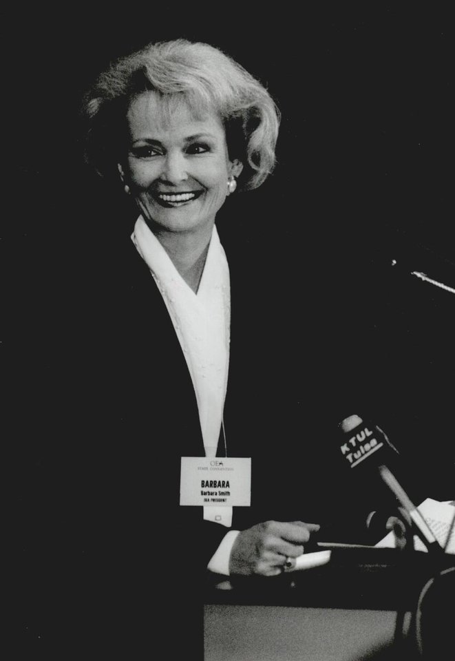 Photo - In 1991, Barbara Smith, president of the Oklahoma Education Association, told teachers during the OEA's annual convention they had a new responsibility - to get on with fulfilling the promise of HB 1017. [Photo by David McDaniel, The Oklahoman Archives]
