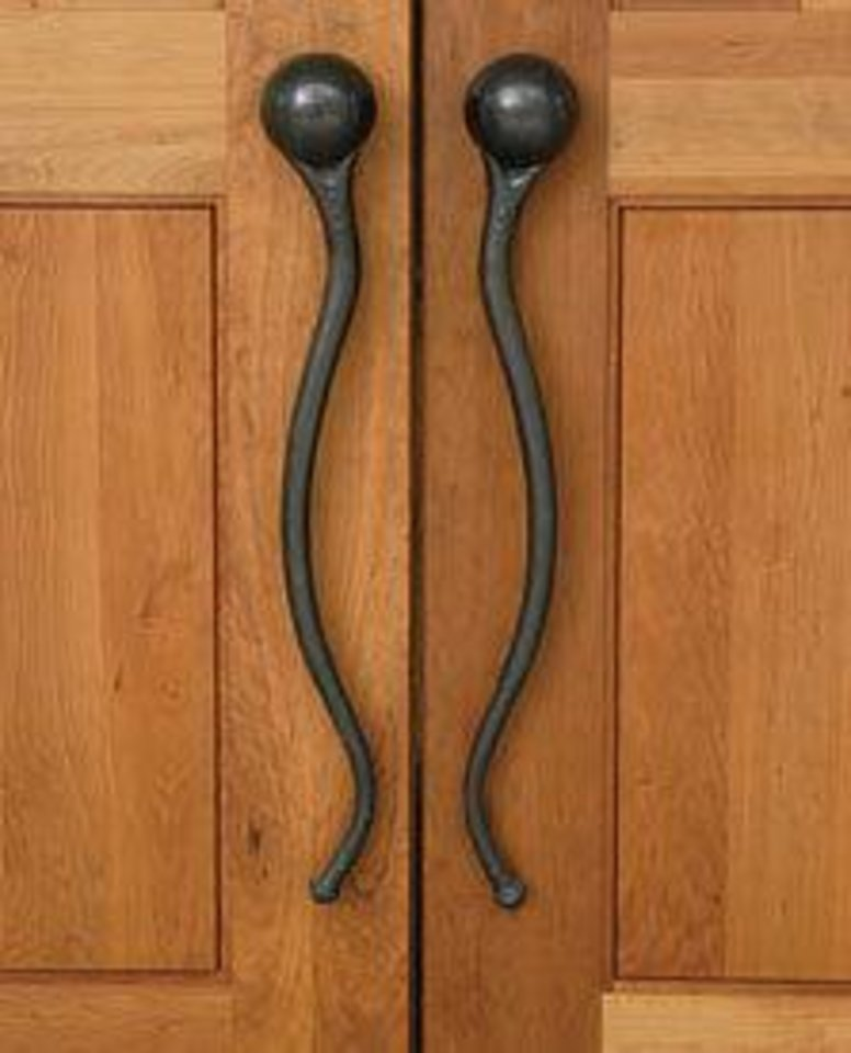Photo - Art nouveau door handles by Eleek, Incorporated.