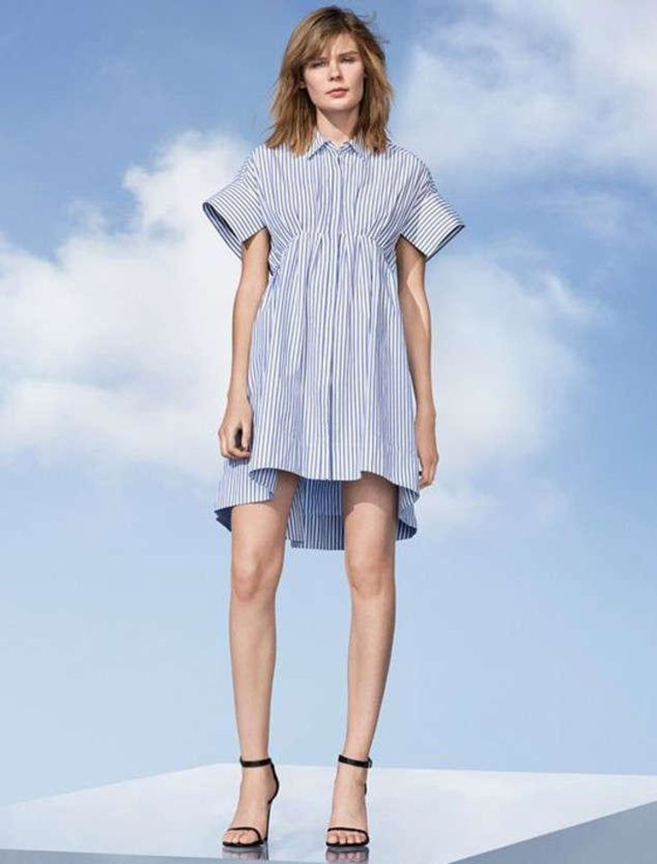 Photo - Victoria Beckham for Target striped dress with gathered waist, $35. [Photo Provided]