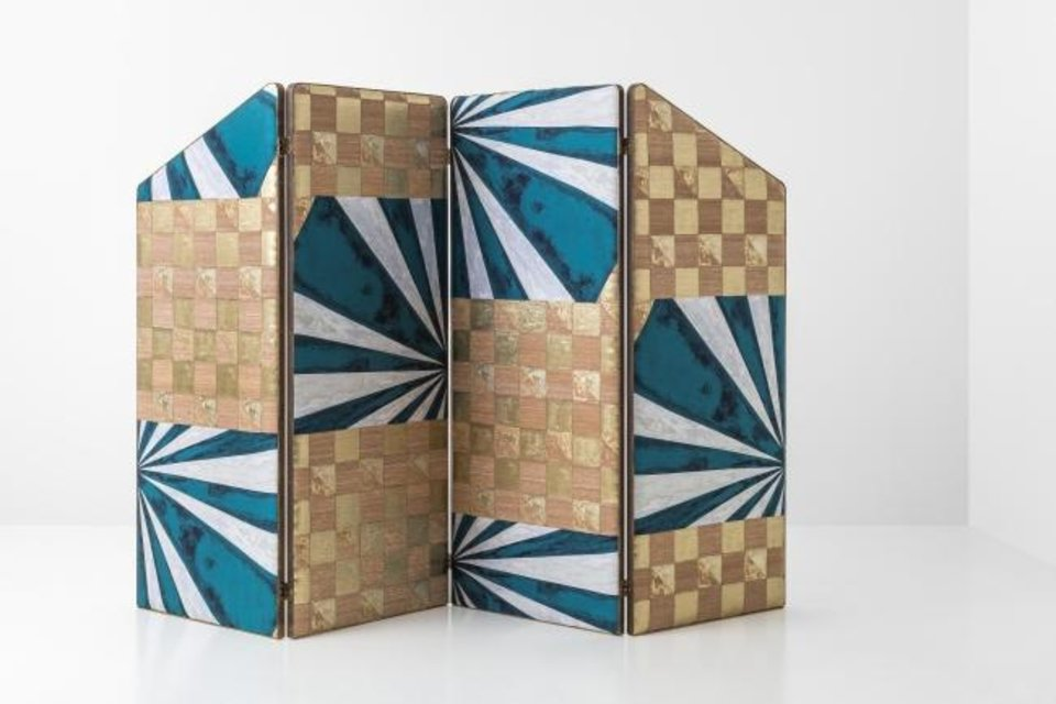 Photo -  Milan-based Dimore Studio has been producing bespoke, avant-garde renditions of decorative screens. [THE WASHINGTON POST/THE FUTURE PERFECT]