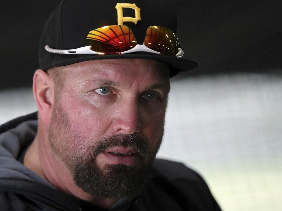 9c94fc130fe734 Country music recording artist Garth Brooks visits the Pittsburgh Pirates'  baseball spring training facility in Bradenton, Fla., Tuesday, Feb. 12,  2019.